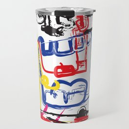 Angry Man | Graffiti Style Art Prints | Graffiti Art Prints Travel Mug