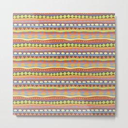 Stripey-Happy Colors Metal Print