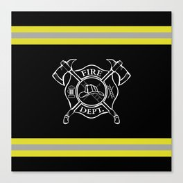Firefighter Home Canvas Print