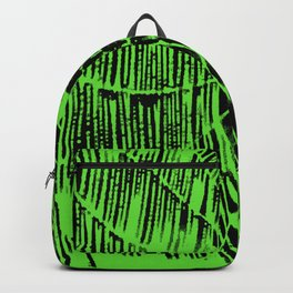 Intricate Halloween Spider Web Green Palette Backpack