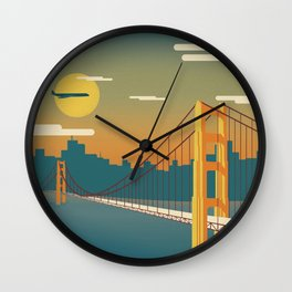 Golden Gate Bridge, San Francisco, California Wall Clock