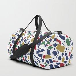 Terrazzo Spot Color on White Duffle Bag