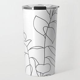 Plant one line drawing illustration - Ellie Travel Mug