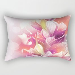 Woman And Flowers By Annie Zeno  Rectangular Pillow