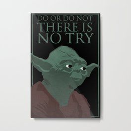 Star Wars - Yoda There Is No Try Poster Metal Print