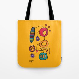 Feather Flower Chime in Color Tote Bag