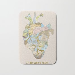 A Traveler's Heart Bath Mat