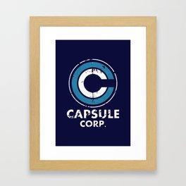 Capsule Corp Vintage dark Framed Art Print