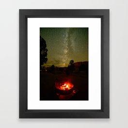 FIRESIDE UNDER THE SUMMER DESERT SKY UTAH Framed Art Print