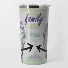 ASL Family in Denim Colors Travel Mug