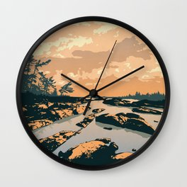 The Massasauga Park Poster Wall Clock