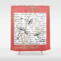 postcard Shower Curtains featuring Vintage Postcard No.3 by Artistic Home Decor