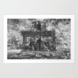 Temple of Chilkigarh Kanak Durga, West Bengal, India black and white photography / photographs Art Print