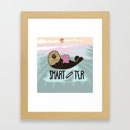 Smart otter Framed Art Print