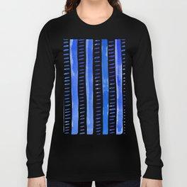 Watercolor lines - blue Long Sleeve T-shirt