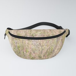 Pink country grass and the wild flowers Fanny Pack