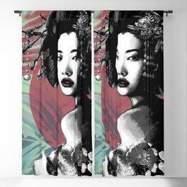 Geisha and Full Moon Blackout Curtain