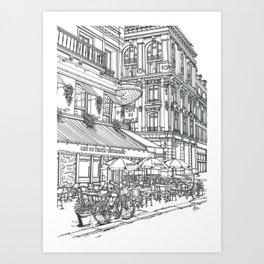Cafe in Paris Art Print