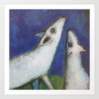 howl Art Prints featuring Howl by cathie joy young