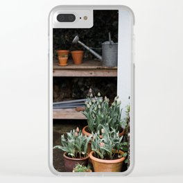 Spring Garden Shed Clear iPhone Case