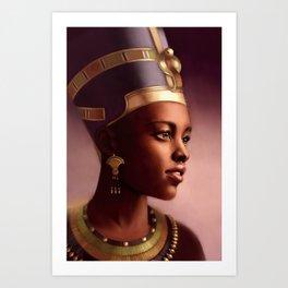 Nefertiti, Queen of Egypt Art Print