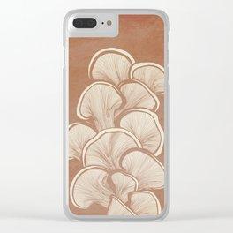 Mushrooms in Copper Clear iPhone Case