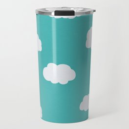 Cartoon Clouds Pattern Travel Mug