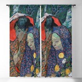 Memory of the Garden at Etten (Ladies of Arles), Vincent Van Gogh Blackout Curtain
