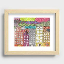 chicago skyline Recessed Framed Print
