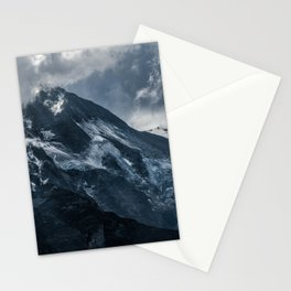 Cold morning in Alps Stationery Cards