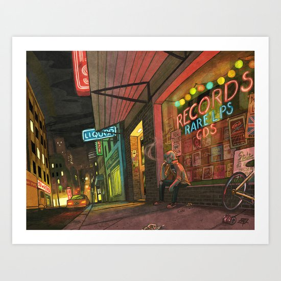 After Hours Art Print