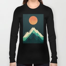 Ablaze on cold mountain Long Sleeve T-shirt