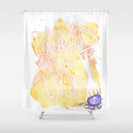 Forked for life Shower Curtain