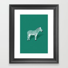 Animal Kingdom: Zebra III Framed Art Print