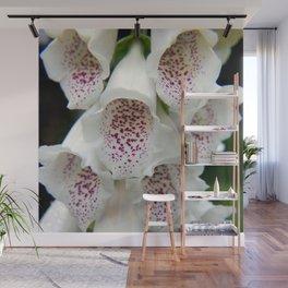 White Foxgloves - Garden Photography Wall Mural
