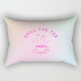 Spill the Tea in Hologram Rectangular Pillow