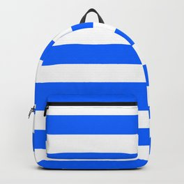China Blue and White Medium Stripes Backpack