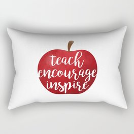 Teach Encourage Inspire Rectangular Pillow