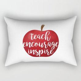 Teach Encourage Inspire Rectangular Pillow