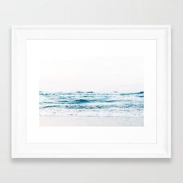 ocean waves, printable photography, coastal print, colorful photo, beach waves, beautiful beach, oce Framed Art Print