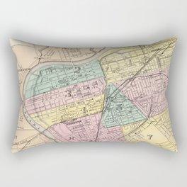 Vintage Map of Dayton Ohio (1872) Rectangular Pillow