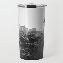 Minneapolis Minnesota Black and White Photography Travel Mug