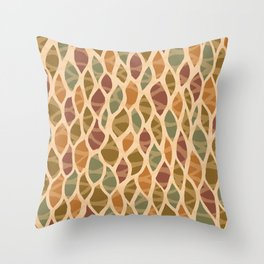 Leaf by leaf autumn colors Throw Pillow