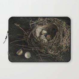 Forgotten nest with eggs Laptop Sleeve