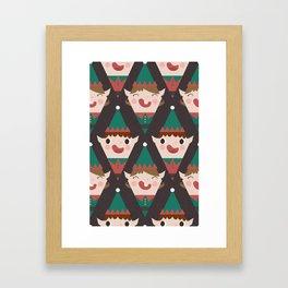 Santa's Little Helpers (Patterns Please) Framed Art Print