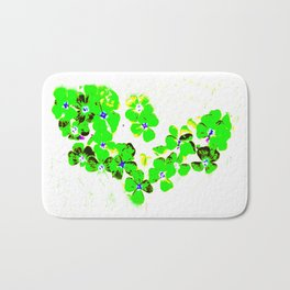 Green Heart Bath Mat