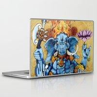 ganesh Laptop & iPad Skins featuring Ganesh by RICHMOND ART STUDIO
