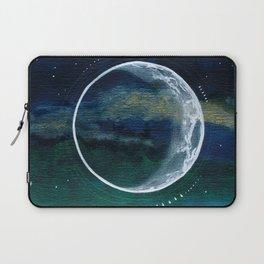 Crescent Moon Mixed Media Painting Laptop Sleeve