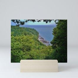 CLOVELLY FROM HOBBY DRIVE COAST PATH DEVON Mini Art Print