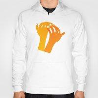 hands Hoodies featuring hands by alex eben meyer